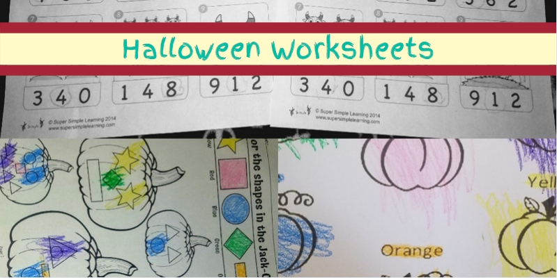 Halloween Worksheets Preschool